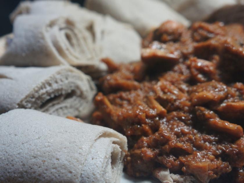 How To Cook Great -Food - HTCG ethiopian food recipes - injera mushroom wot doro gomen